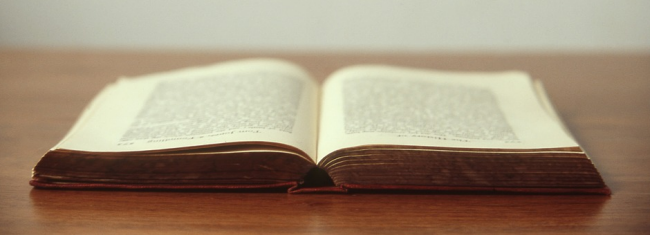 Otevřená kniha na čtení