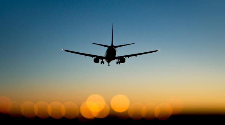 Letadlo při západu